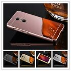 For ZTE Axon 7 Luxury Aluminum Metal Bumper + PC Mirror for ZTE Axon 7 A2017