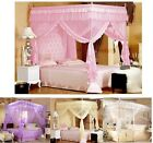 Luxury Lace Princess Four Corner Post Bed Canopy Mosquito Netting Or Frame(Post)