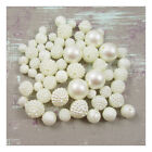 ROUND ACRYLIC BEADS *5 SIZES* *2 STYLES* BEADING JEWELLERY MAKING CRAFT PROJECTS
