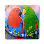 Eclectus Fantasy - Oversized Rubber Coasters Set of 4 or 6
