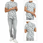 Threadbare Mens Leigh Short Sleeved Shirt New Cotton Hawaiian Leaf Button Up Top