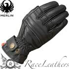 MERLIN BICKFORD  BLACK LEATHER CLASSIC STYLE MOTORCYCLE MOTORBIKE RETRO GLOVES