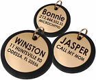 Dog ID Tag Personalized Pet Cat Puppy Name Custom Engraved Brass Key Chain Charm
