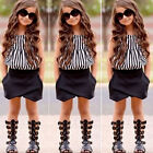2PCS Child Kids Toddler Baby Girls Outfits Clothes T-shirt Tops+Shorts Pants Set