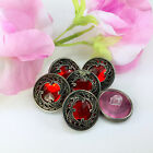 Medieval Swirl Buttons Red Plastic Two Sizes Sold Per 3  buttonsGreat for Coats
