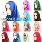 MAXI LARGE PLAIN VISCOSE NECK SCARF WRAP HIJAB SHAWL SCARVES