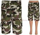 Boys Army Shorts Camouflage Military Print Knee Length Kids Clothes Ages 3-14 Yr