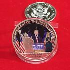 45Th US President Donald Trump Metal Silver Plated Commemorative Coin Gift - LD