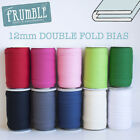 12mm Double Fold Bias 5m Roll - Plain Binding Bunting Tape Sewing Trim Sewing Ed
