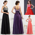 New Beaded Long Evening Party Prom Wedding Bridesmaid Gown Formal Dress
