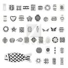 10-500pcs Lots Metal Charm Beads Tibetan Silver Spacer Loose Jewellery 50 Style