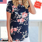 Fashion Women Floral Print Short Sleeve Summer Blouse Casual Loose Tops T-Shirt