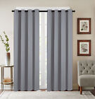 2 Pack: Basic Solid Colored Blackout Curtain Panels - Assorted Colors