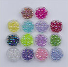 45g Wholesale Acrylic Loose Spacer Beads Round AB Jewelry Finding DIY Craft 10mm