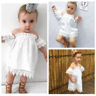 Kids Baby Girls Princess Party Lace Dress Bridesmaid Dresses Sundress Outfits UK