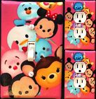 Tsum tsum pink Light Switch wall plate covers nursery kids room bedroom decor