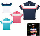 TITLEIST JAPAN LIMITED EXCLUSIVE MEN'S MULTI-BORDER WIDE SPREAD TOP, ASSORTED