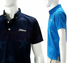 NEW TITLEIST JAPAN LIMITED EXCLUSIVE MEN'S STAR JACQUARD SS POLO SHIRT, ASSORTED