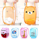 Kitty Cartoon Folding Laundry Storage Basket Bag Kid's Toys Shoes Dirty Clothes