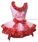 My First Easter Egg Light Pink Top Minnie Satin Trim Girl Skirt Outfit Set NB-8Y