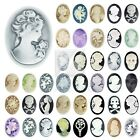 Vintage Style Resin Flatback Cameo Cabochon Embellishments Settings 57 Styles BW