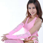 Newly Belly Dance Arm Gloves Indian Dancing Costume Long Elastic Mitten 1Pair