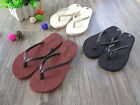 Womens Summer Sandals Flip Flops Leather Thong Slippers Fashion Beach Bath Shoes