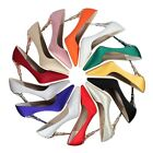 Banquet Solid Stiletto Pointed Toe Pump Metal Craved High Heel Sexy Womens Shoes