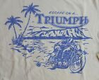 NWT Lucky Brand Triumph S/S Loose Fit Cream Graphic T-Shirt  Choose Size  L2029