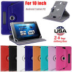 New Universal PU Leather Flip Stand Case Cover For 10 inch Android Tablet PC Hot