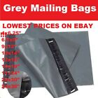 GREY MAILING BAGS POLY POSTAL POST POSTAGE SELF SEAL MAIL6x9