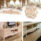Rubber Wood Carved Flower Decal Onlay Furniture Applique Vintage Decorative New