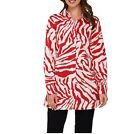 Dennis Basso Animal Print A-Line Blouse with Long Sleeves A278232