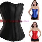 Steampunk Female Corset Lace up boned Overbust Bustiers Plus size Basques
