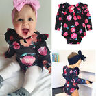 UKStock Toddler Baby Girl Floral Clothes Bodysuit Romper Jumpsuit Outfit Sunsuit