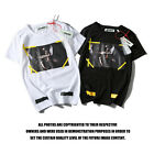 OFF WHITE Men's Casual Summer Striped Tops T-shirt 2017 New Women Fashion TEE