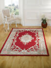 LOTUS PREMIUM SMALL - X LARGE RED SOFT CHUNKY THICK LUXURY 100% WOOL CHINESE RUG