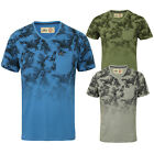 Tokyo Laundry Mens Will Designer Hawaiian Faded Floral T Shirt Cotton V Neck Top