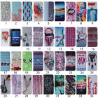 Colorful Pattern PU Leather Flip Stand Card Slots Wallet Cover Case For Samsung