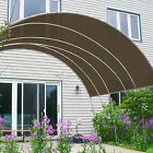 Customize 13' FT Solid Straight Edge Hemmed Sun Shade Sail Canopy Cloth 220 GSM