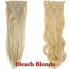 US Real Long 100% Natural Extensions Clip in HAIR EXTENTIONS Full Head as Human
