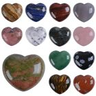 45mm puff LOVE hearts Crystal healing Reiki worry stone 1.8""