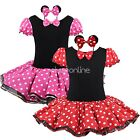 Girls Toddler Minnie Mouse Party Fancy Tutu Dress Cosplay Costume Ears Up outfit