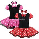 Girl Toddler Minnie Mouse Party Fancy Tutu Dress Cosplay Costume Dress Up Outfit