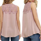 Fashion Summer Women Lace Vest Top Sleeveless Casual Tank Blouse Tops T-Shirt TB