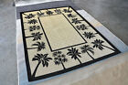 Area Rug Carpet Indoor Outdoor Hand Crafted Carved Rugs H06
