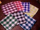 """Checkered  Tablecloth 45"""" Square  7 Check colors Gingham  USA MADE"""