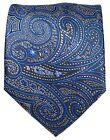 Gray and Blue Paisley Men's Tie