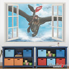 How to Train Your Dragon Window Frame Wall Art Sticker Mural Transfer Graphic