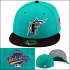New Era Florida Marlins Fitted 1997 World Series TEAL foamposite island Green on Ebay